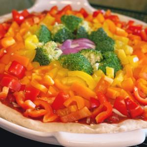 Rainbow Pizza / Regenbogen-Pizza